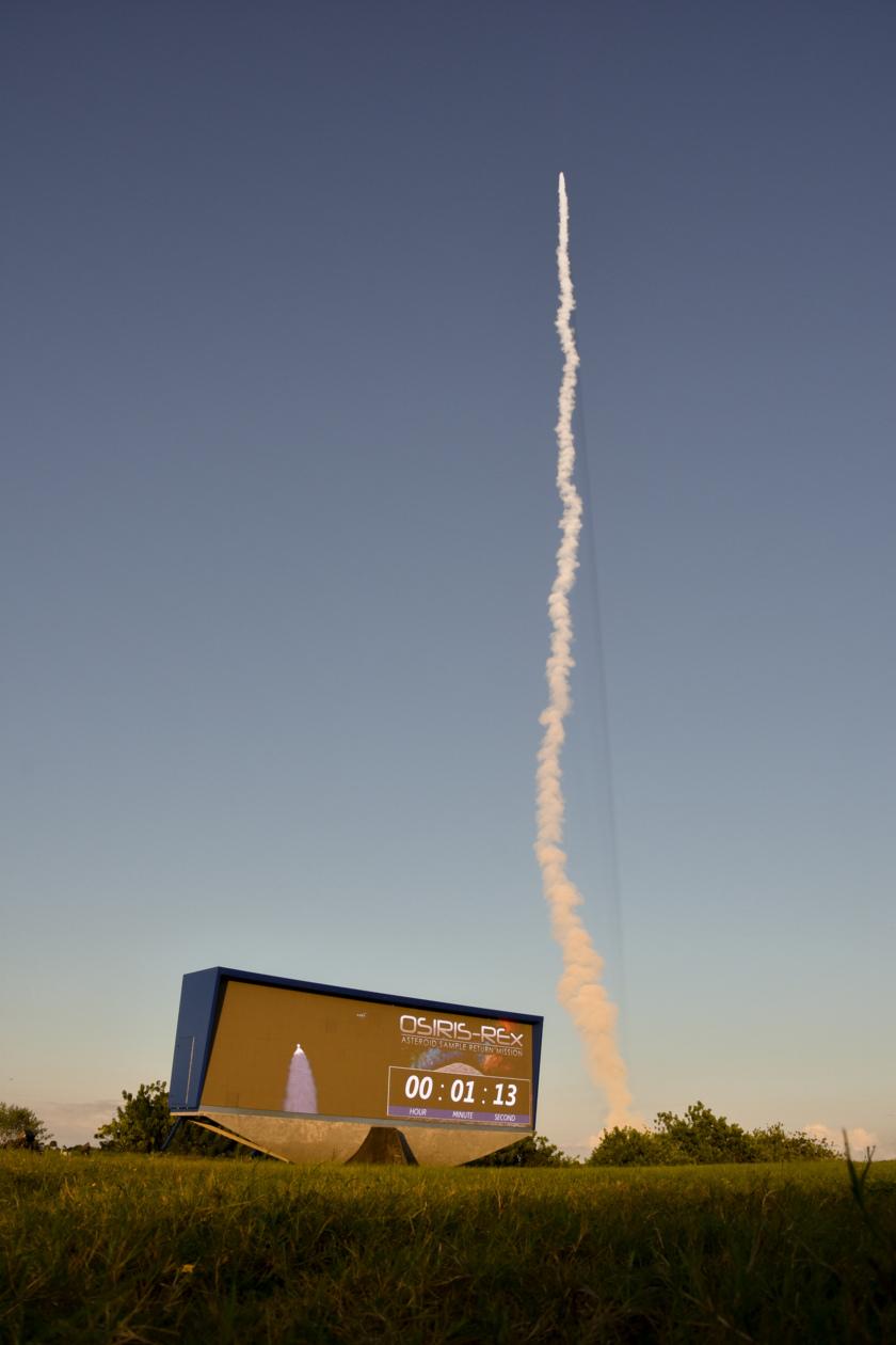 OSIRIS-REx soars into the sky