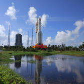 Long March 5 rolls out to the launch pad