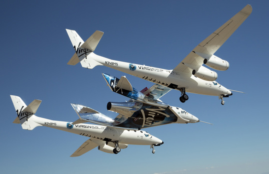SpaceShipTwo VSS Unity in Flight