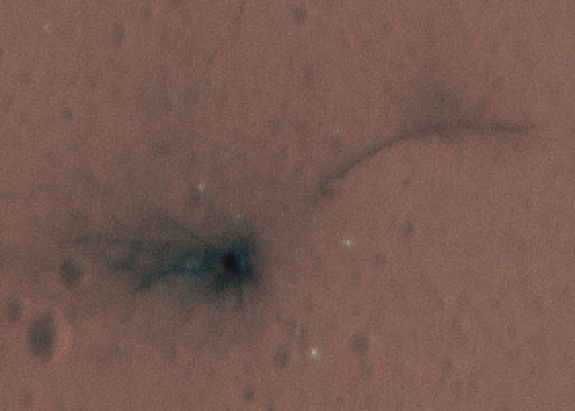 Schiaparelli crash site (300% enlarged detail)