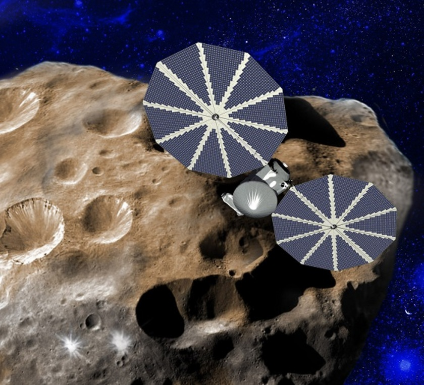 Artist's concept of the Lucy mission