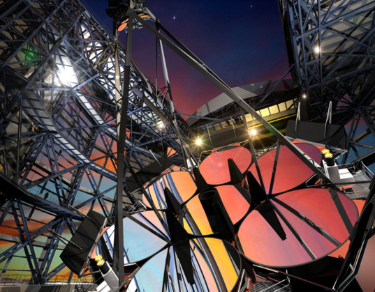 Artist concept of the Giant Magellan Telescope