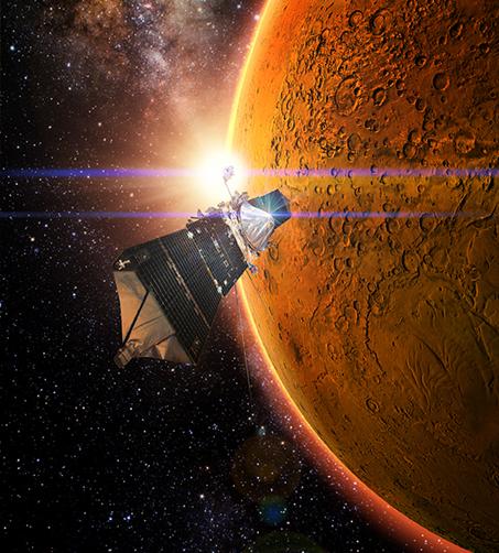 MAVEN orbits Mars