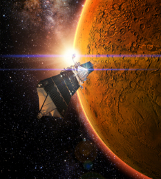 MAVEN orbits Mars