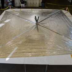 LightSail 2, solar sail deployed, wide shot