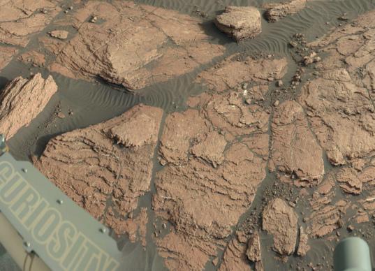 Misery outcrop, Curiosity sol 1591