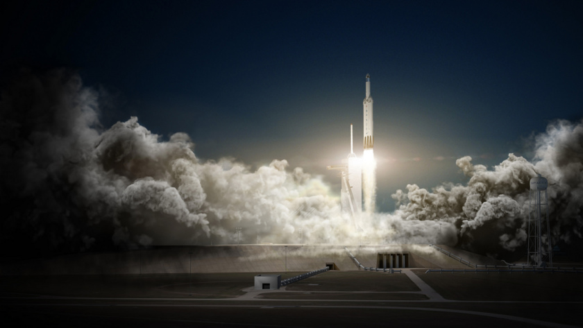 Falcon Heavy and Crew Dragon