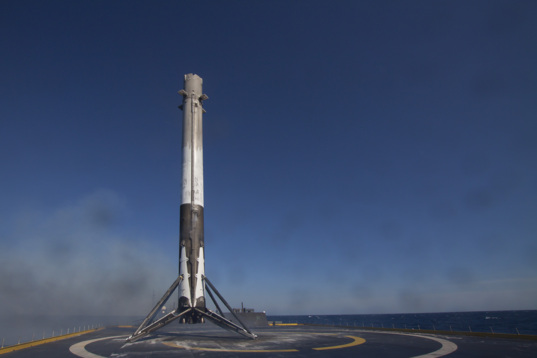 SpaceX CRS-8 landed booster