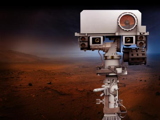 Mars 2020 rover mast on Mars