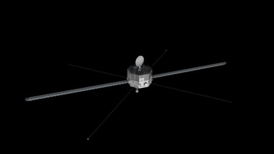 BepiColombo's Mercury Magnetospheric Orbiter (top view)