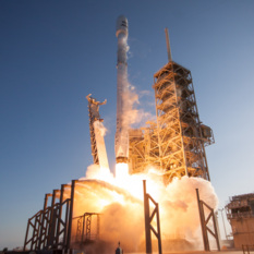 SpaceX SES-10 liftoff