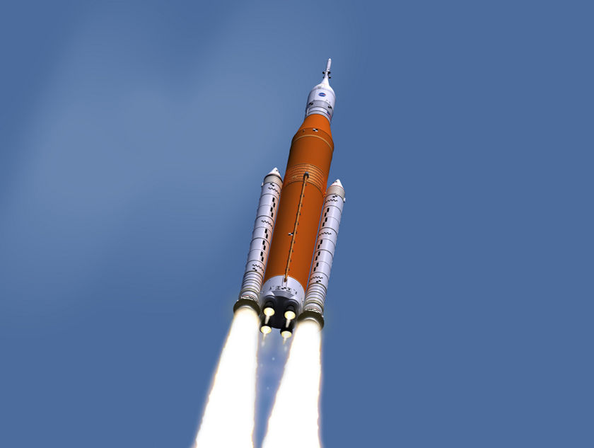 Space Launch System with version 3 paint job