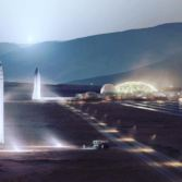 SpaceX vehicles on Mars