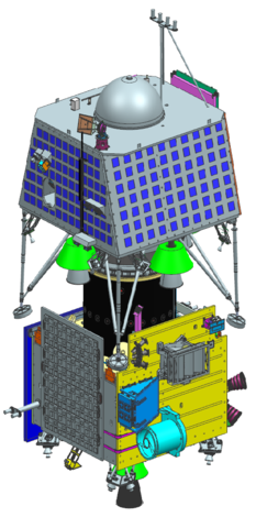 CAD model of Chandrayaan-2, launch configuration