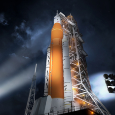 SLS with 2017 booster markings