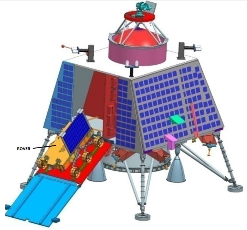 Chandrayaan-2 lander deploying rover