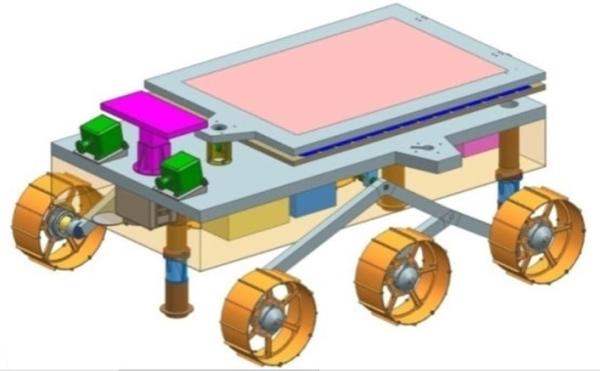 Chandrayaan-2 rover in launch configuration