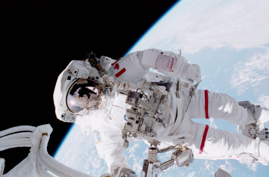 Canadaian astronaut Chris Hadfield on a spacewalk