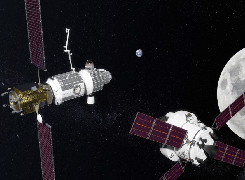 Concept art for NASA's Lunar Orbital Platform – Gateway