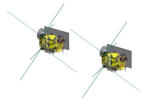Operational configuration of Longjian-1 and 2 in a tandem orbit around the moon