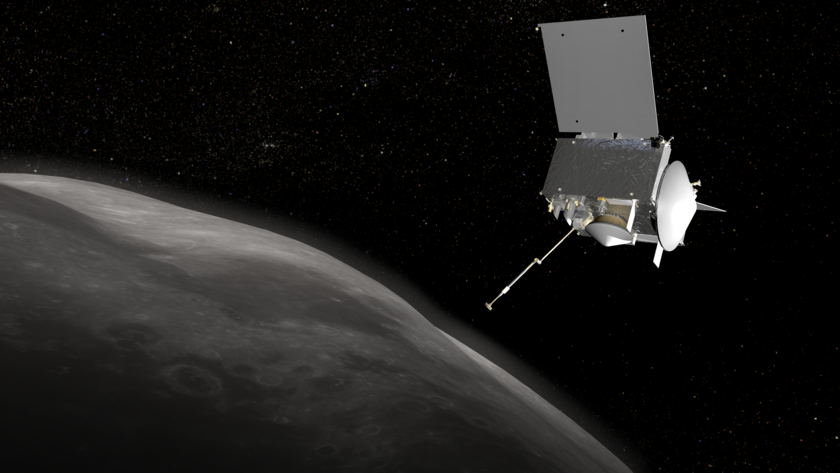 Artist's concept of OSIRIS-REx ready to