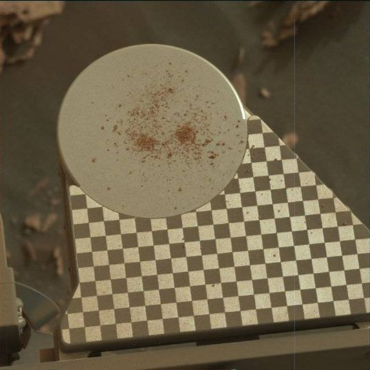Curiosity's observation tray, sol 2078