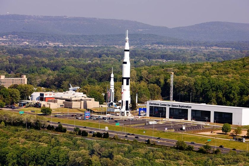 The U.S. Space and Rocket Center in Huntsville, Alabama