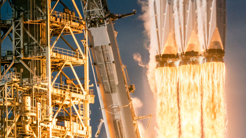 Falcon Heavy rocket launch