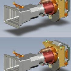Computer models of the two MastCam cameras