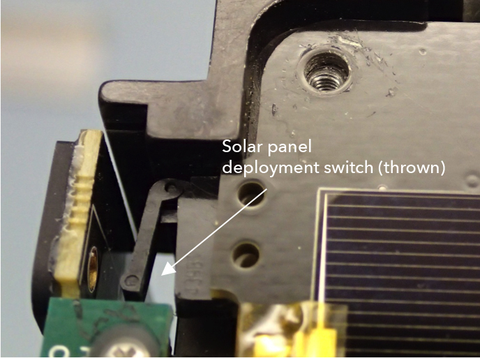 LightSail solar panel deployment switch