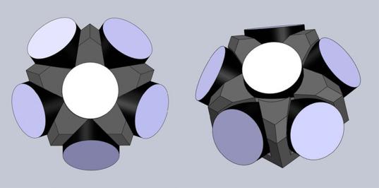 LightSail corner cube array, two views (draft design)