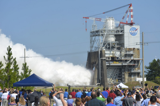 RS-25 engine test