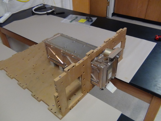 LightSail 2 P-POD simulator in Prox-1 structure