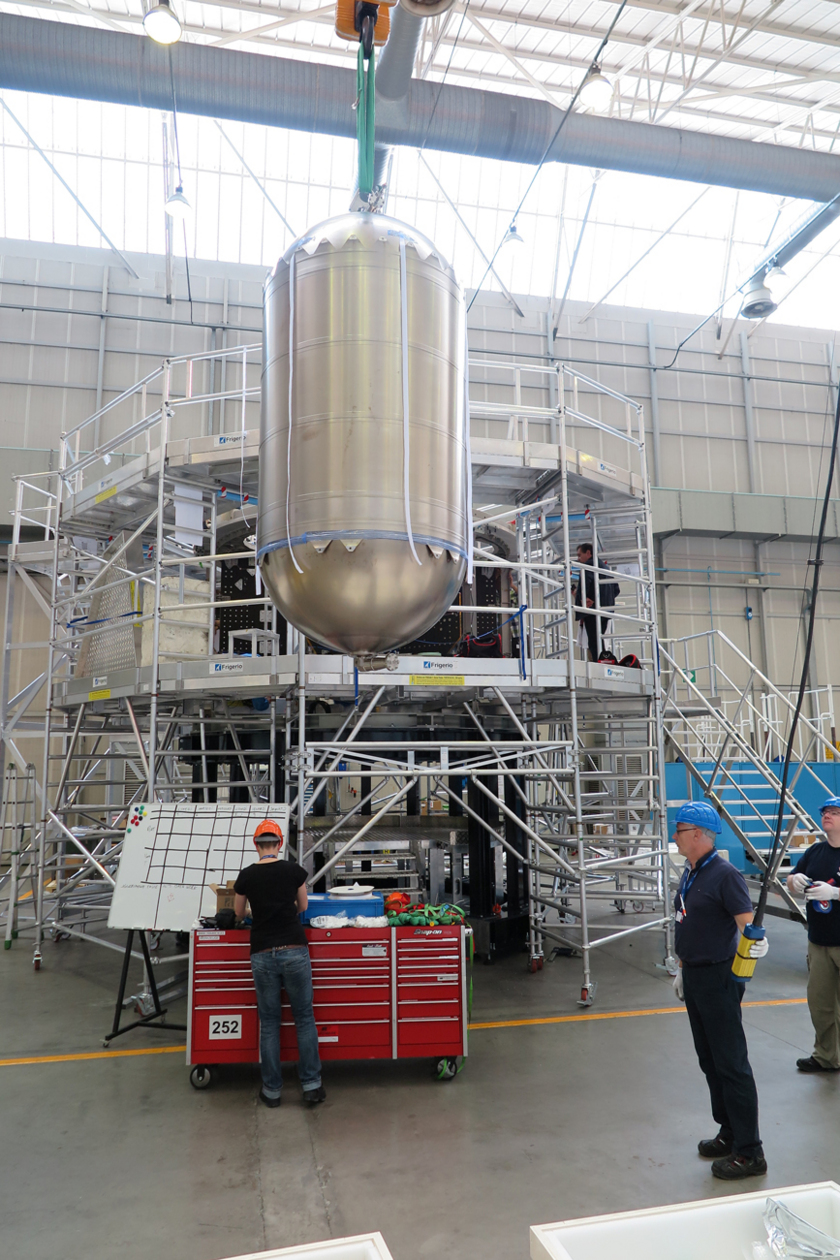 Orion eSTA raising propellant tank