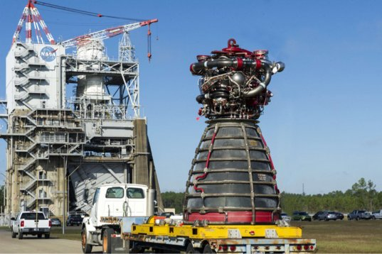 SLS RS-25 engine 2059 approaches the test stand