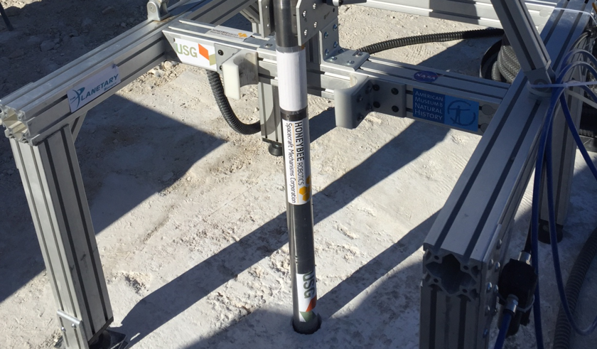 Planetary Deep Drill in gypsum