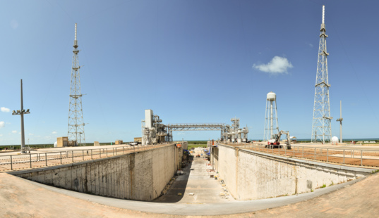 Kennedy Space Center launch pad 39B, September 2016
