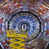 The Compact Muon Solenoid (CMS) detector, part of the Large Hadron Collider