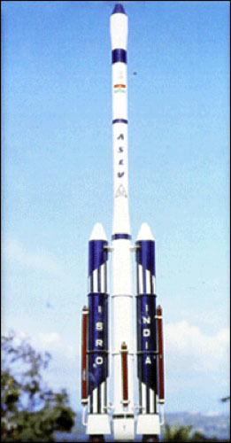 Fully assembled ASLV on its launch pedestal