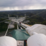 View from the southwestern tower of Arecibo Observatory