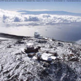 Render of the DKIST site at Haleakala Observatory on the Hawaiian island of Maui
