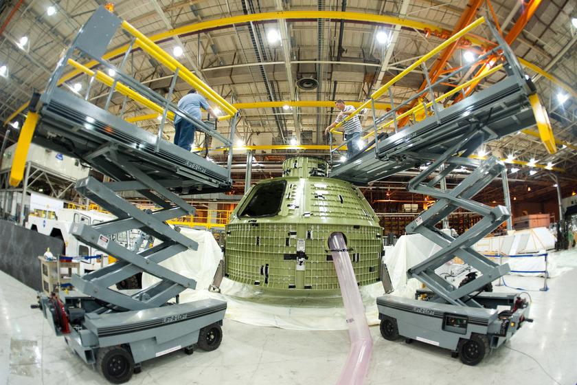 Orion capsule under construction