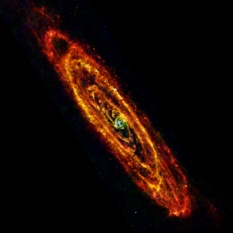 Andromeda galaxy in far-infrared