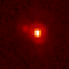 2002 UX25 and its satellite, from some of our images from the Hubble Space Telescope.