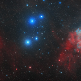IC410 and IC405 - The Tadpoles and the Flaming Star (Widefield Mosaic)