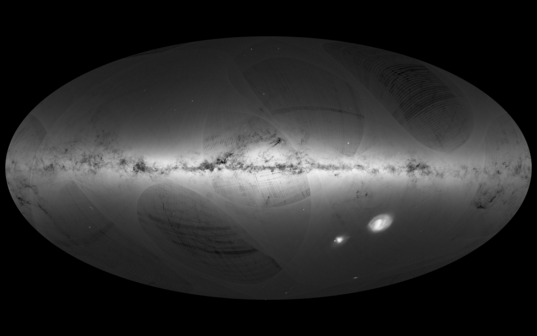 Gaia's first galaxy map