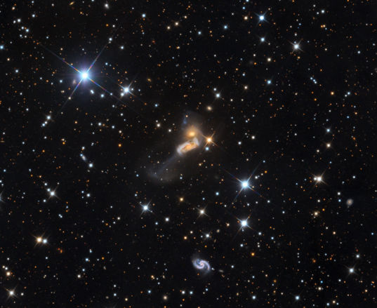 NGC 317: Galactic collision