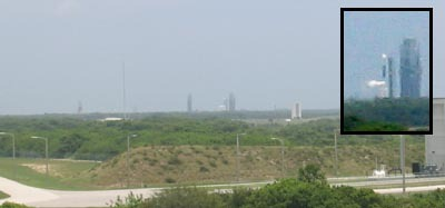 The Boeing Delta II rocket on the horizon