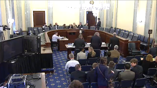 Empty Senate Hearing Chairs