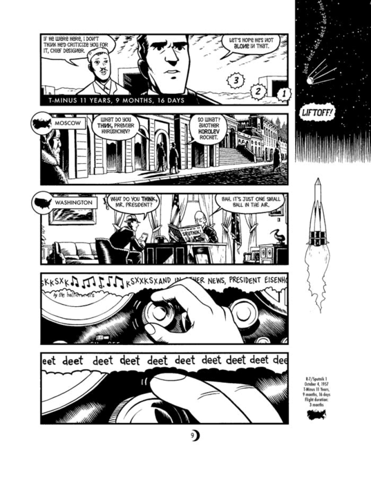 A page from T Minus, by Jim Ottavani